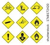 ghs pictogram hazard sign set.... | Shutterstock .eps vector #1768172420