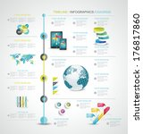 timeline design template with... | Shutterstock .eps vector #176817860