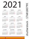calendar 2021   illustration.... | Shutterstock .eps vector #1768180790