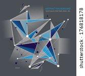 abstract 3d mesh vector... | Shutterstock .eps vector #176818178