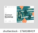 abstract homepage illustration. ... | Shutterstock .eps vector #1768188419