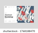 abstract homepage illustration. ... | Shutterstock .eps vector #1768188470