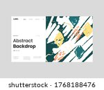 abstract homepage illustration. ... | Shutterstock .eps vector #1768188476