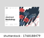 abstract homepage illustration. ... | Shutterstock .eps vector #1768188479