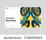 abstract homepage illustration. ... | Shutterstock .eps vector #1768195613