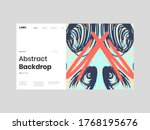 abstract homepage illustration. ... | Shutterstock .eps vector #1768195676
