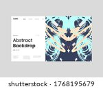abstract homepage illustration. ... | Shutterstock .eps vector #1768195679