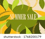 summer sale beige lettering on... | Shutterstock .eps vector #1768200179