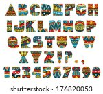 set of abc letters with... | Shutterstock .eps vector #176820053