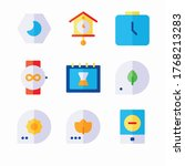 icon set calender and date for...