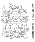 coloring page   numbers. ... | Shutterstock .eps vector #1768233299