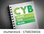 Small photo of CYB - Create Your Brand acronym, business concept background