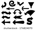 set of black  arrows. vector... | Shutterstock .eps vector #176824070