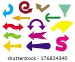set of colorful arrows. vector... | Shutterstock .eps vector #176824340