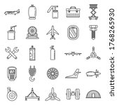 Industry Aircraft Repair Icons...