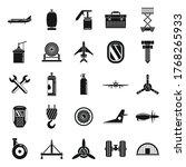 aviation repair icons set....   Shutterstock .eps vector #1768265933