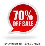 seventy percent off | Shutterstock . vector #176827526