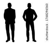 isolated  men stand black... | Shutterstock .eps vector #1768296560