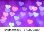 abstract violet background with ... | Shutterstock . vector #176829800