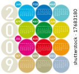 Colorful Calendar For 2009  In...