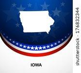 Iowa map vector background