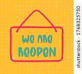 reopen text  vector open sign... | Shutterstock .eps vector #1768325750