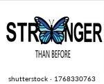 Stronger Butterfly Design Hand...