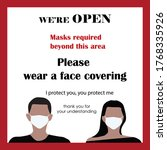 medical and covering mask sign. ... | Shutterstock .eps vector #1768335926