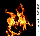 red fire and flame with a black ...   Shutterstock . vector #176834033