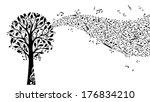 black music tree isolated on... | Shutterstock .eps vector #176834210