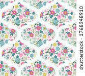 seamless pattern with flowers ...   Shutterstock .eps vector #1768348910