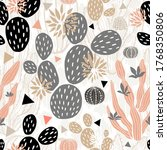 cactuses succulents wild... | Shutterstock .eps vector #1768350806