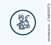 exoskeleton icon from 3d... | Shutterstock .eps vector #1768355573