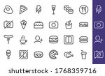 a simple set of fast food icons ... | Shutterstock .eps vector #1768359716