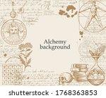 alchemy background. vintage...   Shutterstock .eps vector #1768363853