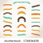 set of vector ribbon icons.... | Shutterstock .eps vector #176836658