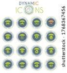 insurance vector icons on white ... | Shutterstock .eps vector #1768367456