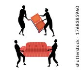 concept of moving. moving... | Shutterstock .eps vector #1768385960