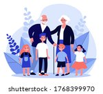 happy grandparents spending... | Shutterstock .eps vector #1768399970