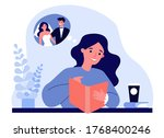 happy young woman planning her...   Shutterstock .eps vector #1768400246