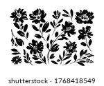 spring flowers hand drawn... | Shutterstock .eps vector #1768418549