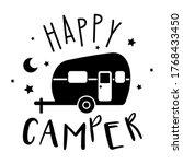 happy camper vector... | Shutterstock .eps vector #1768433450