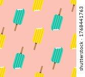 cute popsicles seamless pattern ...   Shutterstock .eps vector #1768441763