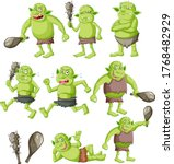 Set Of Goblin Or Troll With...