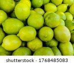 A Stack Of Fresh Lemon  Lime ...