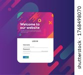 login form page. with colorful...