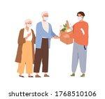 guy in medical mask giving... | Shutterstock .eps vector #1768510106