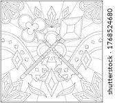 clover and diamond key adult...   Shutterstock .eps vector #1768524680