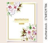 romantic wedding invitation... | Shutterstock .eps vector #1768529786
