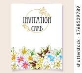 romantic wedding invitation... | Shutterstock .eps vector #1768529789